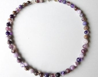 Fluorite and Sterling Silver necklace