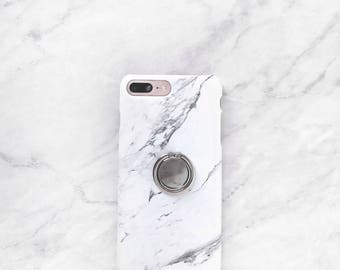 Ring Phone Holder - Rose Marble Case Set, iPhone and Samsung Galaxy Phone Stand, Grip