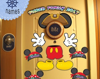 Pirate Mickey Body Personalized Disney Cruise Door Download - Use as Disney Cruise Door Magnets and