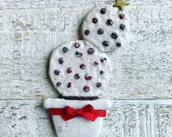 Cactus Holiday Magnet