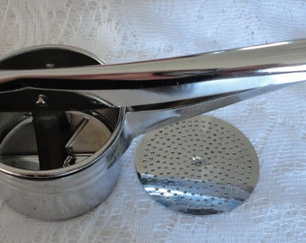 50s Potato Ricer Masher Metal Made in Hong Kong Vintage