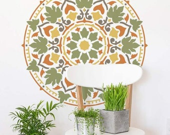 Mandala Stencil Cottage Garden - Mandala Stencil for Quick and Easy DIY Home Improvement - DIY Wall Art - Better Than Decals