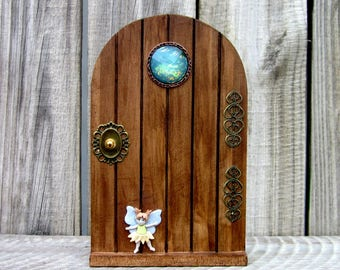 Wood Fairy Door, Indoor Fairy Door, Childs Gift, Fairy, Pretend Play, Magical Portal, Miniature Door, Fairy Play