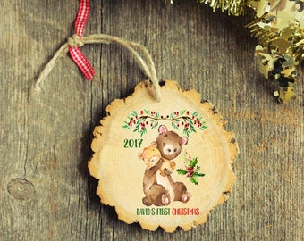 Gift Under 15 dollars - Baby's First Christmas Ornament - Moose Ornament - My First Christmas Ornament, First Christmas