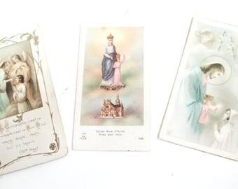Antique French, Holy Cards, Vintage French, Holy cards, Vintage Religious, Holy Cards, cards, 1900's, 1950s, 1920s, Vintage Paper Ephemera