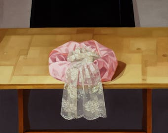 Pink Satin and Lace - Original Painting