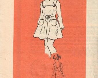 80s Girls Sundress Pattern Marian Martin 4971 Size 4 Girls Dress Summer Wrap Dress Button Straps Vintage 1980s Mail Order Pattern