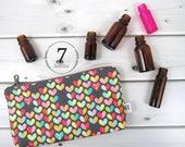 Essential Oil Case - Love Bug - cosmetic bag zipper pouch essential oil bag clutch