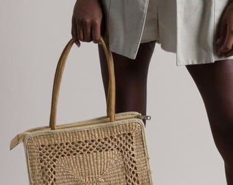 Vintage Small Woven Straw Bag
