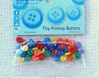 Mini Primary Color Buttons from Dress It Up - Sets of 40                                                                            09/2017