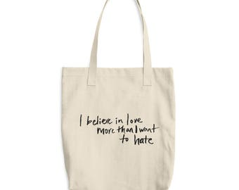 Believe In Love Cotton Tote Bag