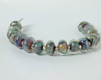 Multicolored flamework bracelet