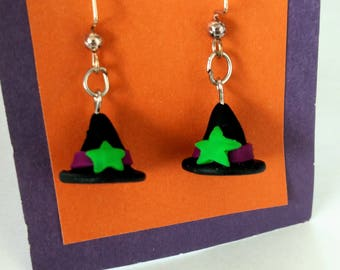 Witch's Hat Halloween Earrings