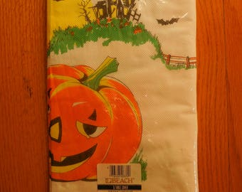 Vintage Paper Halloween Table Cloth