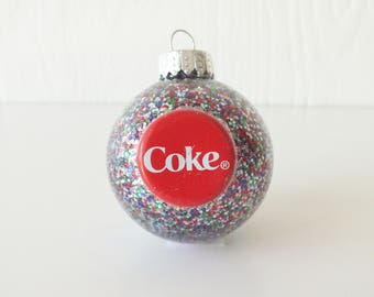 Coke Ornament Recycled Bottle Cap