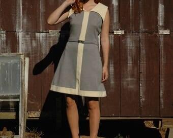 Mod Dress / Space Age Dress / 60s Dress / Mid Century Dress / Jetsons Dress / Joseph Magnin / 1960s Mod Dress