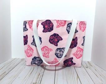 Tote Bag, Cat Tote Bag, Cat Bag, Cat lover, Crazy Cat Lady, Animal Gift, Teacher Bag, Gift for Her, Gift, Under 20 dollars, Cat Gift