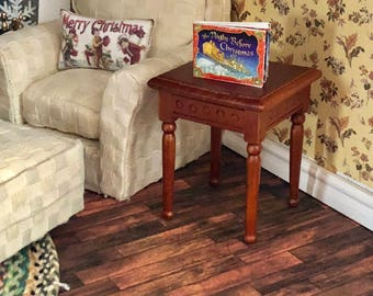 Miniature End Table, Family Room End Table, Dollhouse Miniature Furniture,  1:12