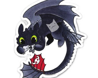 Toothless How to Train Your Dragon Sticker - Die Cut Vinyl - Weather Resistant - UV Protected
