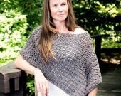 Easy Crochet Poncho Patte...