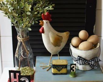 Farmhouse Pedestal Tray - Farmhouse Mini Table - Farmhouse Display Tray - Rustic Pedestal Tray - Farmhouse Tray -  Blue Farmhouse Tray