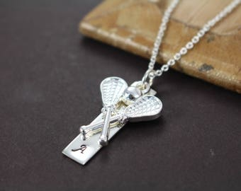 Lacrosse Necklace , Lacrosse Gifts , Lacrosse Coach Gifts , Lacrosse Charm