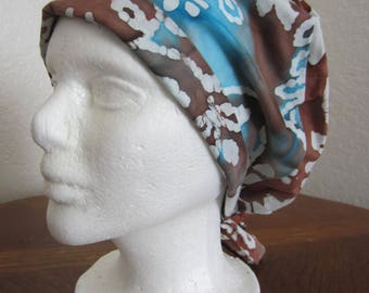 Tie Dye Tie-back Surgical Scrub Hat