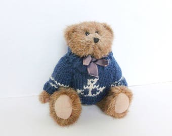Boyds Bears Sailor Bear Jointed Stuffed Teddy Bear wearing Nautical Anchor Sweater 1993