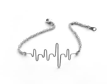 Nursing Graduation, Gift for Nurse BSN, Heartbeat Bracelet, Nursing School, RN Grad Gift, Ekg Bracelet, Heart Beat Bracelet, Gift for Doctor