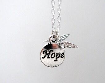 Hummingbird Hope Necklace, Sterling Silver, Hummingbird Charm, Hope Charm, Hope And Joy, Emily Dickinson Poetry, Hummingbird Necklace, Bird