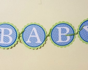 Baby Banner, Blue Baby Banner, Hippo Baby Banner, Banner for Boy