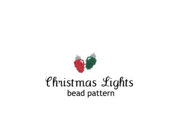 Brick Stitch Christmas Lights Bead Pattern