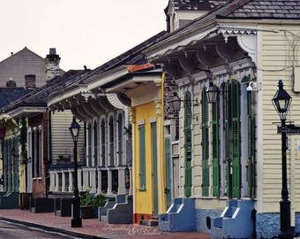 New Orleans- NOLA- French Quarter- Architecture- Creole Cottage- Burgundy Street- Fine Art Photography