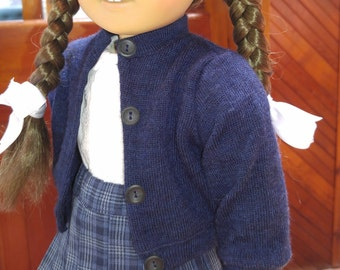 NAVY Merino Wool Cardigan Sweater 18 inch doll clothes