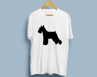 Standard Schnauzer (with cropped ears and docked tail) - Digital Download, Standard Schnauzer Art, Dog Silhouette, Dog Decor, SVG, JPG, PDF