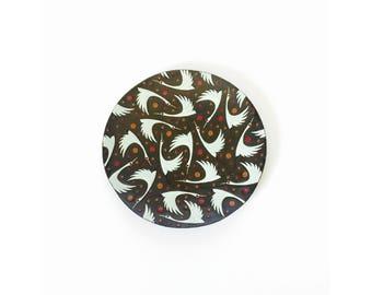 Mid Century Enamel Birds Decorative Plate