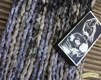Nevermore DE x10 Crochet Synthetic Dreads - black silver grey
