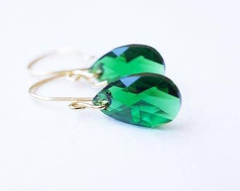 Earrings, Gold Earrings, Crystal Earrings, Crystal Earrings, Dangle Earrings, Drop Earrings, Handmade Earrings, Swarovski Earrings, Gift