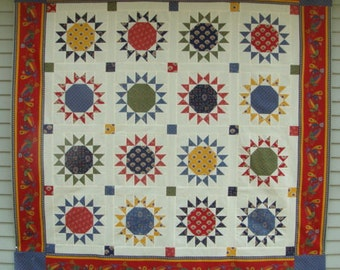 Nutmeg Stars II Quilt Kit with Lorraine Fabric by American Jane from Moda