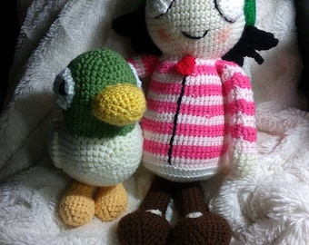 Crochet Sarah and Duck
