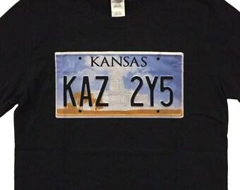 Supernatural Imapala Kansas License Plate Geek T-Shirt