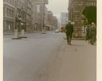 Vintage Photo, A Walking Tour of Fleet Street, London, England, Snapshot, Old Photo, Color Photo, Travel Photo, Landscape