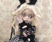 Raylan Victorian Gothic sad Rabbit Spring Girl OOAK Art Doll LuLusApple