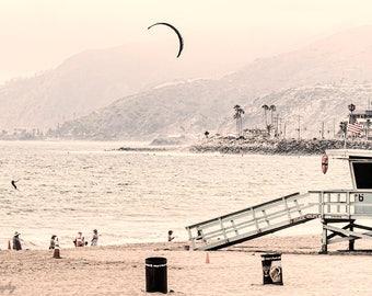 Malibu,Skyline,Beach,Malibu Beach,Ocean,Turquoise,Life Guard,Bay Watch,California,Home Decor,Office Decor,Oversize,Wall Art,Beach Decor