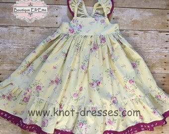 Girls Ella Dress Delicate Collection with Flutters Toddler Infant Girls