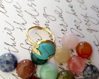 Personalized Birthstone Ring, Custom Gemstone Ring, Personalized Gold Ring, birthstone jewelry, Gold Personalized Ring, Best Friends Ring
