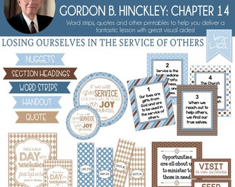 Relief Society Lesson Helps, Gordon B. Hinckley Lesson #14, RS Lesson Aides - Teachings of the Presidents of the Church, PRINTABLE Download