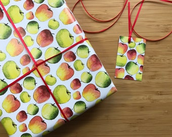 Teacher Apples Gift Wrap - Apples Gift Wrap - Teacher Gift Wrap - Wrapping Paper for Teacher Gift - Thank You Gift Wrap - Apple Gifts