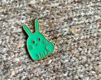 Enamel Pin - Teal Bunny