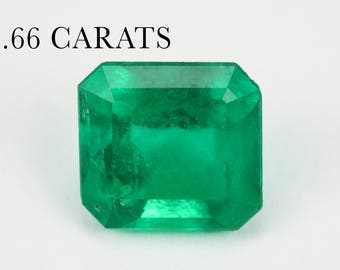 Natural Colombian Emerald, Columbian genuine 2.66 ct, Faceted step cut, report certificate, Loose emerald, Loose Emerald Cut